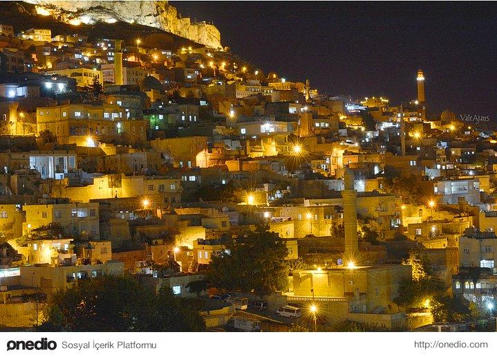 Nightview of Mardin City.